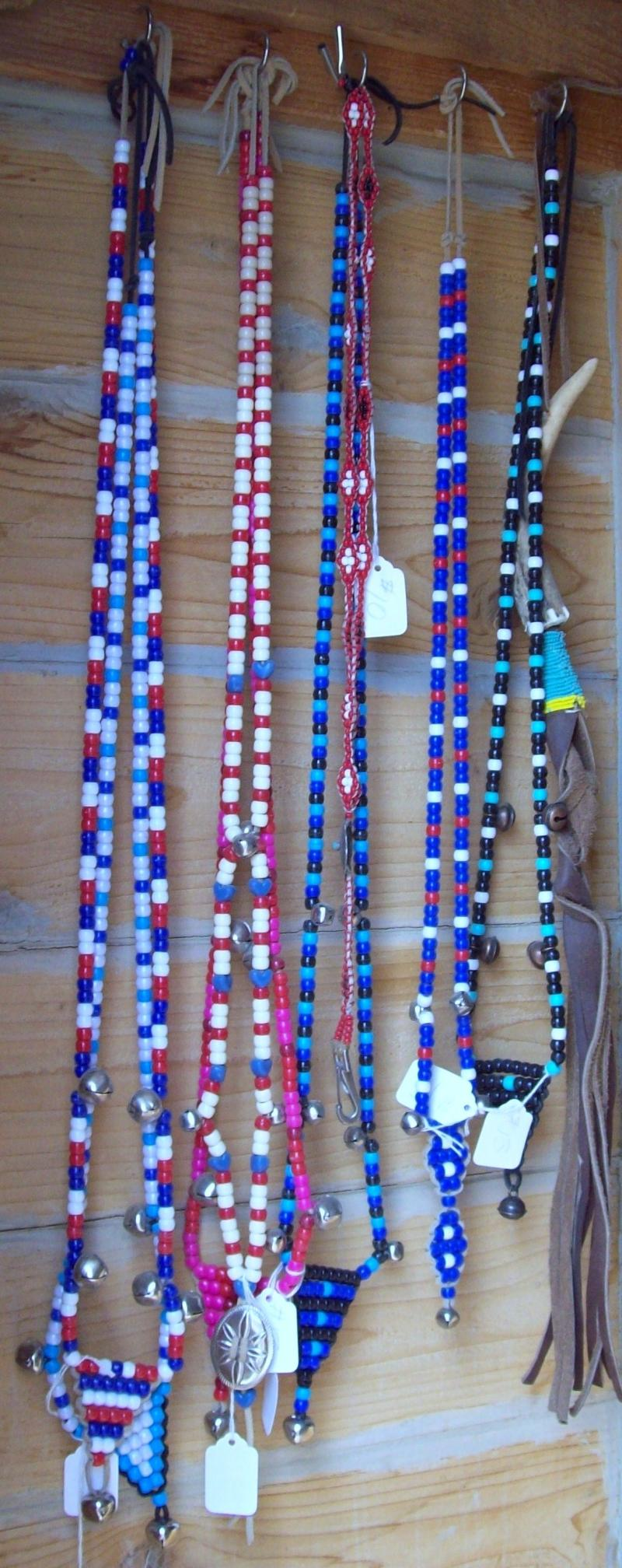 Rhythm Beads and A Beaded Riding Quirt Hang in the Trading Post